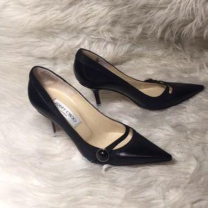 Jimmy choo black button heels